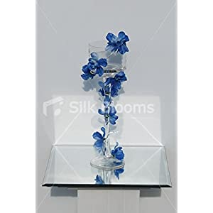 Artificial Wired Blue Delphinium Garland Floral Decoration 55cm 5