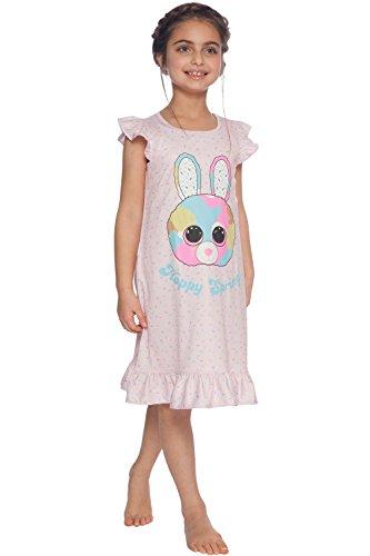 TY Beanie Boo Girls' Big Beanie Boo Bubby Bunny Ruffle Nightgown, Pink 7/8 ()