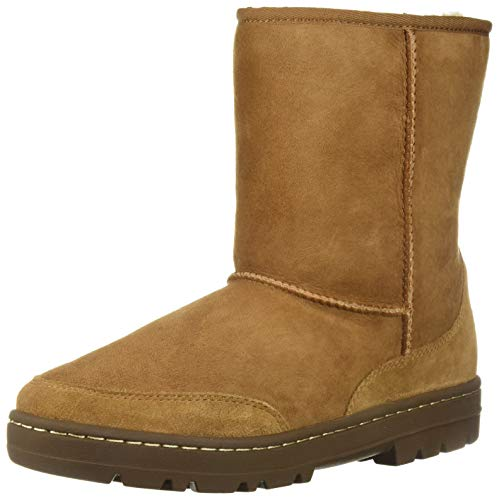 Ultra Sheepskin Boots - UGG Women's W Ultra Short Revival Fashion Boot, Chestnut, 6 M US