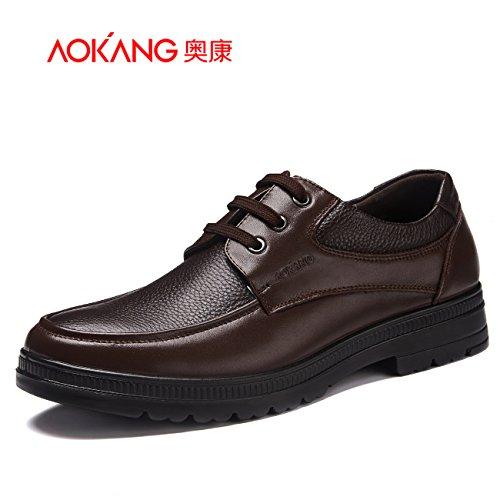 aemember delle scarpe di uomini d' affari casual per uomini scarpe, scarpe per uomini scarpe comodi e traspiranti, 37, marrone
