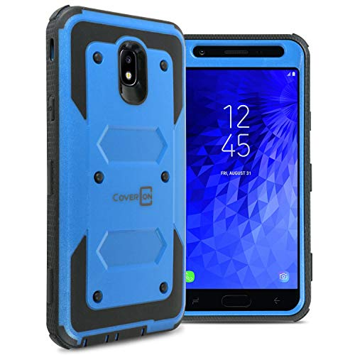 CoverON [Tank Series] for Samsung Galaxy J7 V 2nd Generation Case, Galaxy J7 Refine/Galaxy J7 2018 / J7 Star / J7 Aero / J7 Crown Case, Protective Full Body Phone Cover with Tough Faceplate - Blue