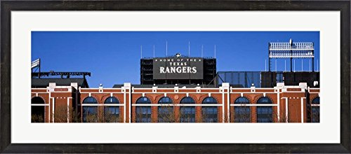 (Rangers Ballpark, Dallas, Texas by Panoramic Images Framed Art Print Wall Picture, Espresso Brown Frame, 41 x 18 inches)