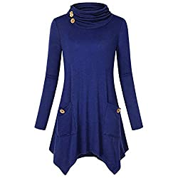 Blouses For Womens Foruu Christmas Thanksgiving Friday Monday Under 10 Women Button Pockets Sleeve Long Sleeve Pullover Shirts Bu 2xl