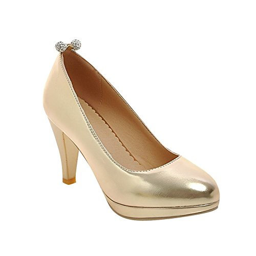 Shoes Heels Womens Fashion Carolbar High Bridal Cuff Rhinestones Gold Pumps BX8XwxqOd