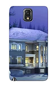 Hot Khidfr-5006-tesiqtd Case Cover Protector For Galaxy Note 3- Winter House / Special Gift For Lovers
