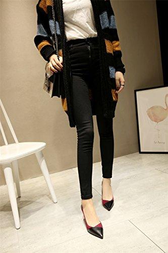 Low Da Microfibra Bocca Partito Il Donna Per Scarpe Sexy Stiletto Europa Ha Una Sera Alto America top E Superficiale Tacco wq7RRE