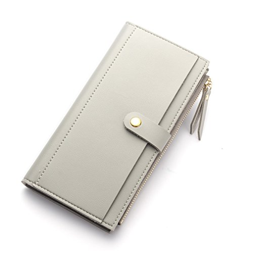 Zipper Women Soft Leather Long HASP Wallets Purse Clutch Thin Female Phone Coin Credit Card Holder by WUDEF