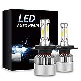 H4 LED Headlight bulbs 8000LM 6500K Extremely Bright Car Headlamp Bulbs Conversion Kit (2-Pack)
