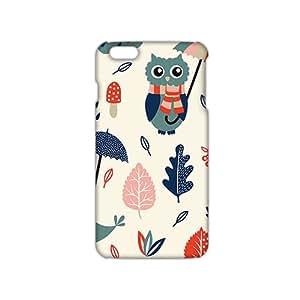Evil-Store Cartoon umbrella owl and dove 3D Phone Case for iPhone 6