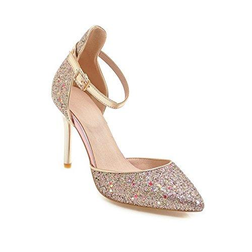 De Tobillo para Correa Tacon Zapatos Mujer Y Purple con xOAqIBw4B