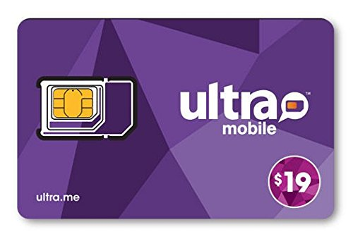 (Ultra Mobile All in One SIM Card + $19 Plan Free)