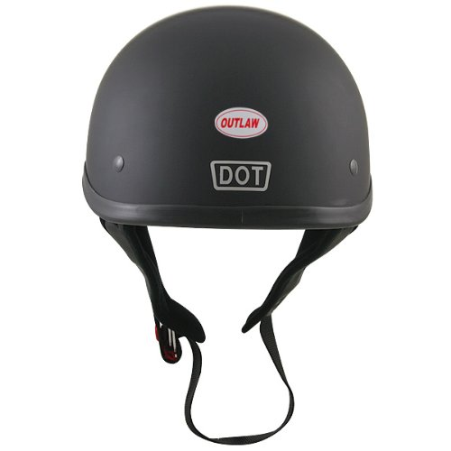 Motorcycle Helmets Dot >> Amazon Com Outlaw T68 Dot Flat Black Motorcycle Skull Cap Half