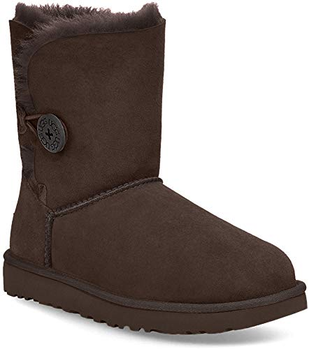 UGG Women's Bailey Button II Winter Boot, Chocolate, 7 B US