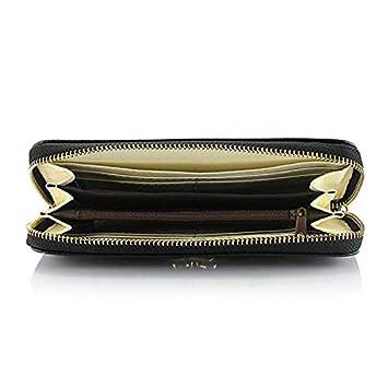 f88142dea RMXMY Bolso largo de cuero artificial de imitación para mujer bolso de embrague  largo color sólido simple creativo de gran capacidad multifuncional ...