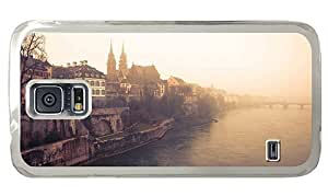 Hipster personalized Samsung Galaxy S5 Case basel rhine river PC Transparent for Samsung S5