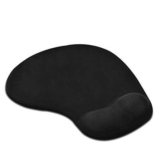Mouse pad, Ergonomic Mouse Pad with Wrist Support - Black Silicone Gel Wrist Support Mouse Pad Mat for Laptop Desktop - Non-slip Rubber Base