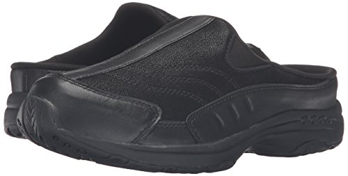 Easy Spirit Women's Traveltime Clog, Black/Black Leather, 8 W US by Easy Spirit (Image #6)