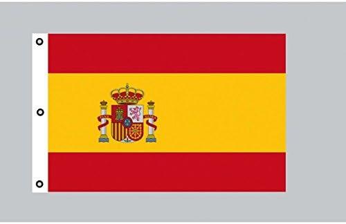 Tamaño-bandera: España con escudo 150 cm x 250 cm: Amazon.es: Hogar