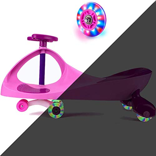 Ride on Toys for Wiggle Car Boys Girls 3 Year Old and Up with LED Light Up Wheels (Pink)