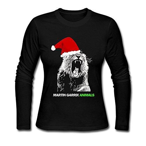 LCNANA Martin Garrix-Animals-Christmas Women's Long-Sleeve T-Shirt Black S