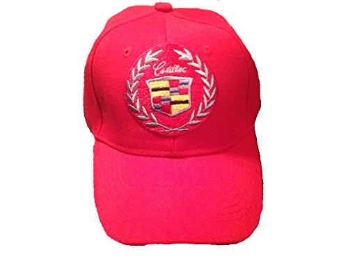 Cadillac Baseball Cap Hat Red. New! ()