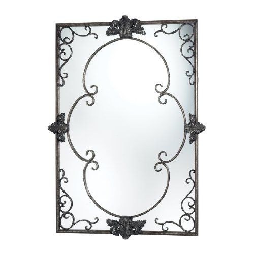 Sterling Silver Rectangular Mirror (Sterling Industries DM1975 Harrowgate Mirror in Katrina Silver)
