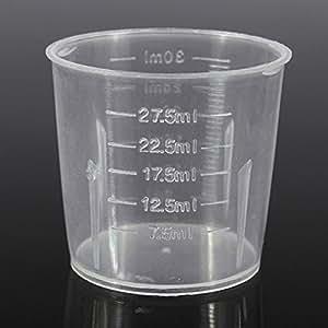 Dealglad New 10PCS 30ml 1oz Plastic Transparent Measure Graduate Measuring Medicine Cups