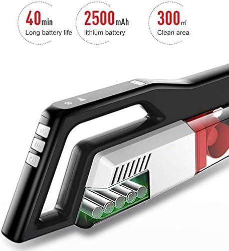 Aspirateur sans fil, léger et portatif puissant aspirateur sans sac, 9000pa haute puissance, 2500mAh batterie rechargeable au lithium, for Moquette Animaux cheveux voitures
