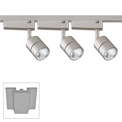 Linder 3-Light Silver LED Track Kit with Floating Canopy - Pro Track