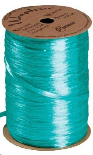 Teal Pearlized Raffia Ribbon Gift Wrap Wedding 1/2'' Wide 500 Yards Bow by retail-warehouse