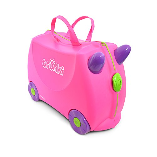 (Trunki Original Kids Ride-On Suitcase and Carry-On Luggage - Trixie (Pink))