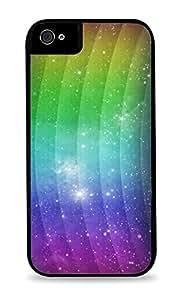 Space Rainbow Black Hardshell Case for iPhone 5C