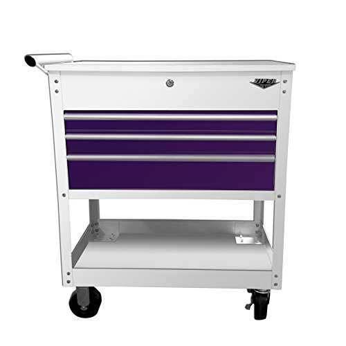Viper Tool Storage V33UCWPUR 3-Drawer Industrial Utility/Mechanics Cart, 34