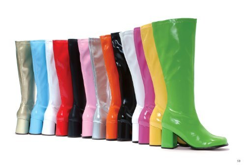 """Ellie Shoes E-Gogo, 3"""" Gogo Boots with Zipper. 12 Red"""