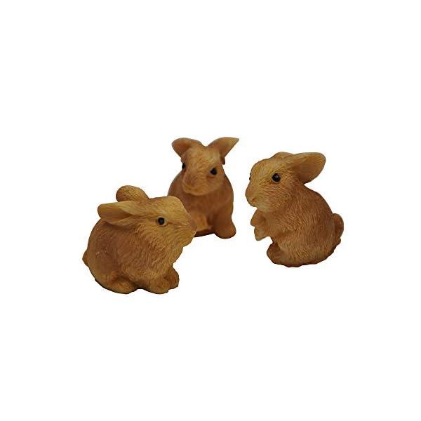 Darice Yard And Garden Minis Rabbits Resin 3 Pieces Tan 1 X 1 Inch
