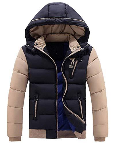 Winter Winter Jacket Pockets Hooded BoBoLily Men's Jacket Down Warm Coat Side Hooded Schwarz Outwear Coat Jacket Jacket 5wXSCxqC8