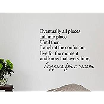 Decalgeek Eventually All Pieces Fall Into Place Inspirational - Custom vinyl wall decals falling off