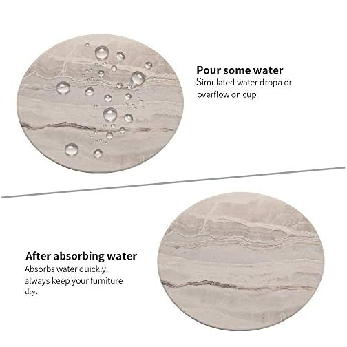 Coasters for Drinks/Absorbent Marble Ceramic Coasters/Housewarming Gift for Home Decor - Set of 6 |