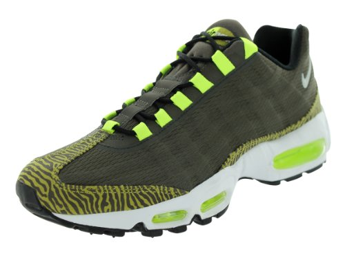 Air Max 95 PRM nastro Scarpa da corsa Newsprint / Dusty Grey / Black/ Volt