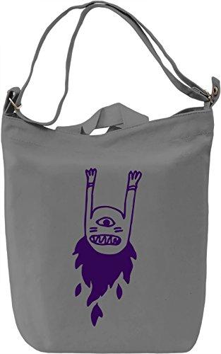 Doodle monster Borsa Giornaliera Canvas Canvas Day Bag| 100% Premium Cotton Canvas| DTG Printing|