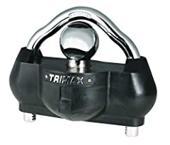 The Trimax UMAX100 coupler lock features an exclusive design that provides 360 degrees of hardened steel protection for your unattended trailer. It provides instant security for your camper, boat, or trailer when they are not hooked up to you...