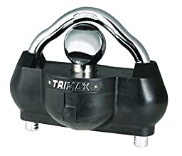 Trimax UMAX100 Premium Universal \'Solid Hardened Steel\' Trailer Lock (fits all couplers)