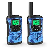 Kids Walkie Talkies,  2 Way Radio Children's Toy Set with Flashlight Backlit LCD Screen, Long Range Handheld Walkie Talky Pair for Kids/Children Toys/Gift