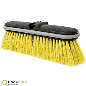 "DocaPole 6-24 Foot Medium Bristle Deck Brush + Extension Pole |11"" Scrub Brush with Telescopic Pole 