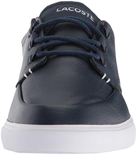 Men's Deck Esparre Sneaker Leather Blue Navy Lacoste 6xFUwOw