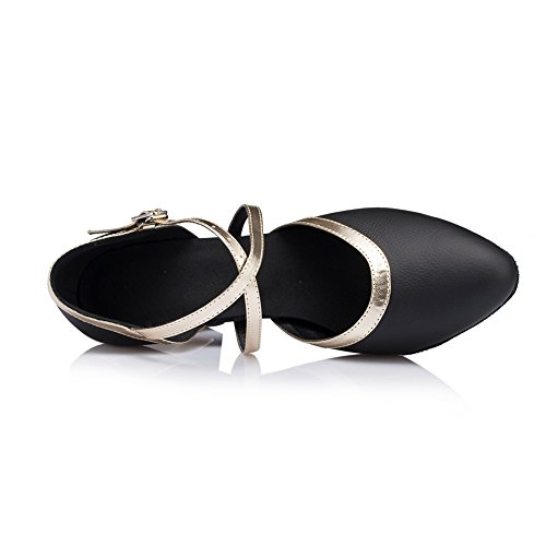 Mujer Para Misu Danza De Negro Zapatillas ICqFqS