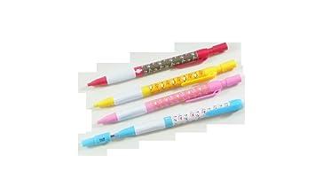 PartyErasers 2mm embrague mecánico Leadholder Lápiz con leadpointer en pulsador (4 lápices - colores surtidos) + 1 paquete de 9 cables: Amazon.es: Oficina y ...