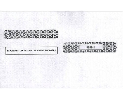 EGP IRS Approved Tax Envelope 4 up style W-2 (80 packs - 2000 envelopes)