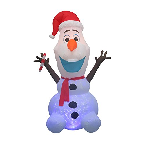 - CHRISTMAS INFLATABLE 8' PROJECTION KALEIDOSCOPE OLAF W/ CANDY CANE DISNEY FROZEN YARD PROP DECORATION