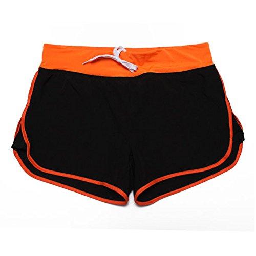 Libero Sportivi Donne Sport Yoga Estate Pantaloncini Shorts ZhuiKun Orange Tempo Pantaloncini PfwAfq